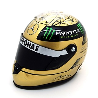 Michael Schumacher Casco Schuberth 20th year F1 Gold 2011 Amg Mercedes Petronas 1:2