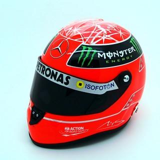 Michael Schumacher Casco Schuberth Red F1 2012 Amg Mercedes Petronas 1:2