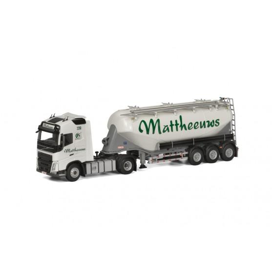 "Volvo FH4 Globetrotter 4X2 semirimorchio Silos Cemento 3 assi ""Mattheeuws Transport"" (B) 1:50"