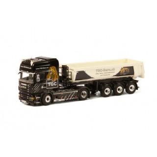 "Scania R6 Topline 6X4 Half Trailer 3 assi ""TGC Berna"" (CH) 1:50"