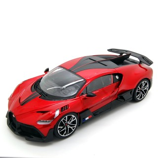Bugatti Divo 2018 Metallic Red - Carbon Black 1:18