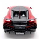 Bugatti Divo 2018 Metallic Red - Carbon Black 1:18