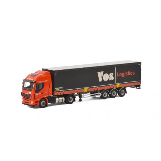 """Iveco Stralis Hi-Way 4x2 con Semirimorchio centinato """"Vos Logistic"""" (NL) 1:50"""