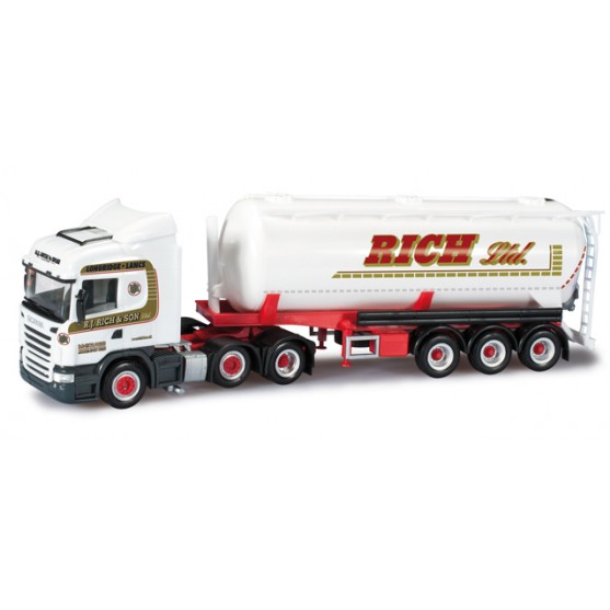 "Scania R HL semirimorchio silo ""RJ Rich & Sohn Ltd."" (GB) 1:87"