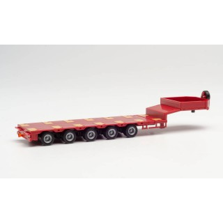 Semirimorchio Goldhofer Semiribassato Trailer Red 1:87