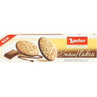Loacker Gran Pasticceria Snowflakes Milk Biscotti 120g