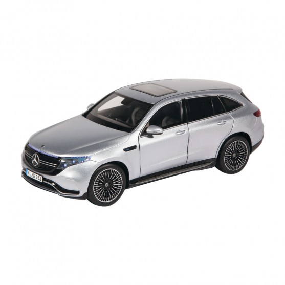 Mercedes-Benz EQC 2020 Silver with Light  1:18