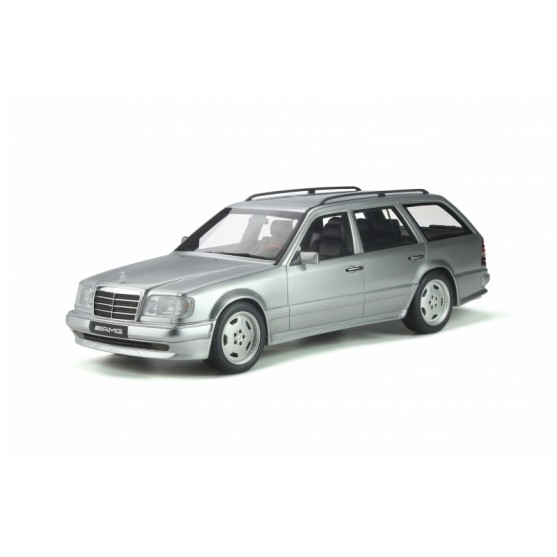 Mercedes-Benz S124 E36 AMG 1995 Brilliant Silver 1:18