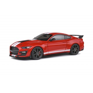 Ford Mustang Shelby GT500 Fast Track 2020 Red with white stripes 1:18