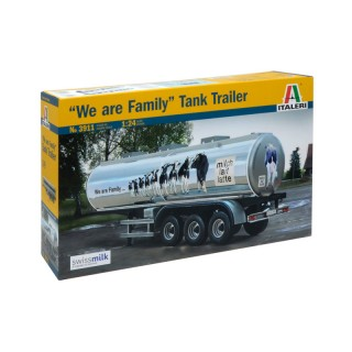 "Semirimorchio Classic Tank Trailer ""We are Family"" Kit 1:24"