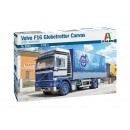 Volvo F16 Globetrotter Canvas Truck with elevator Kit 1:24