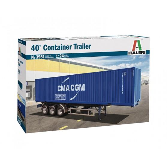 Semirimorchio 40' Container Trailer kit 1:24