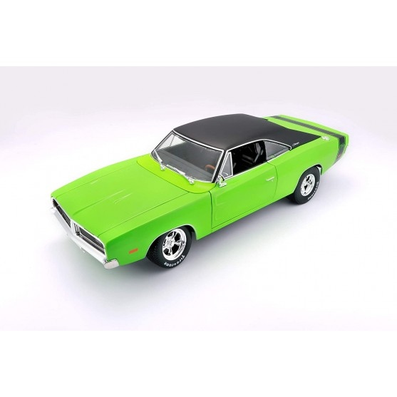 Dodge Charger R/T 1969 Green Black 1:18