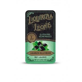 Liquirizia alla Menta Pastiglie Leone in lattina da 10g