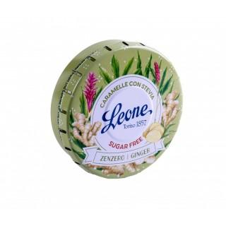 Pastiglie Leone Stevia Zenzero lattina da 30g