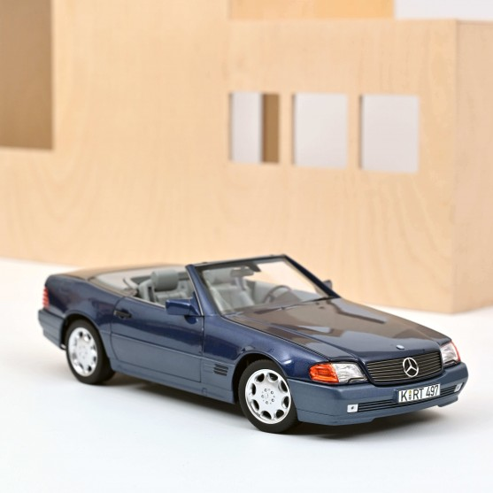 Mercedes-Benz 500 SL 1989 Blue metallic 1:18