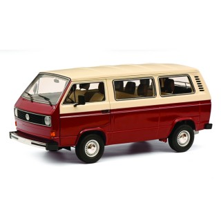 Volkswagen VW T3a Bus / Transporter Red / Cream 1:18