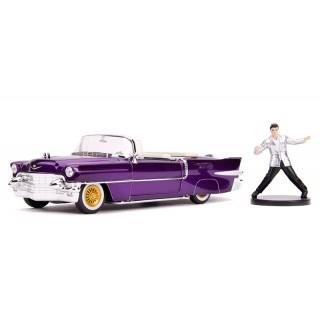 Cadillac Eldorado 1956 purple with Elvis Presley Figure 1:24