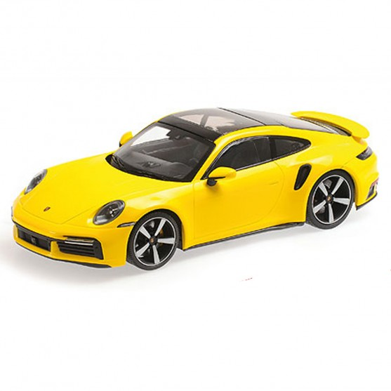 Porsche 911 (992) Turbo S yellow 1:18