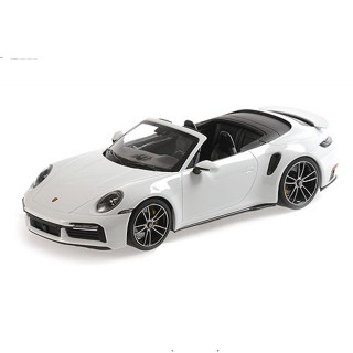 Porsche 911 (992) Turbo S Cabriolet White Metallic 1:18