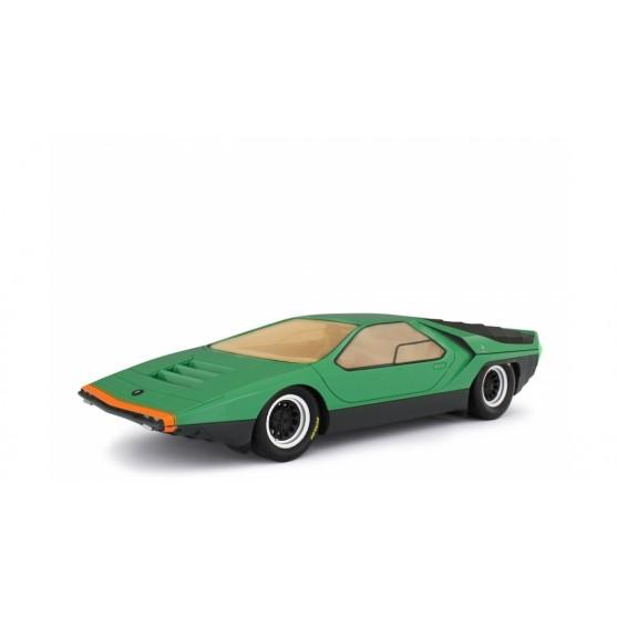 Alfa Romeo 33 Bertone Carabo 1968 Presentation Version Verde metallizzato 1:18