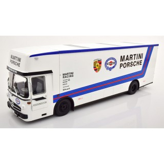 Mercedes O 317 Truck Porsche Transporter Martini Racing White 1:18