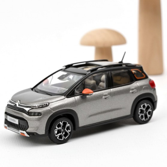 Citroën C3 Aircross 2021 Platinium Grey & Black roof & Orange deco 1:43