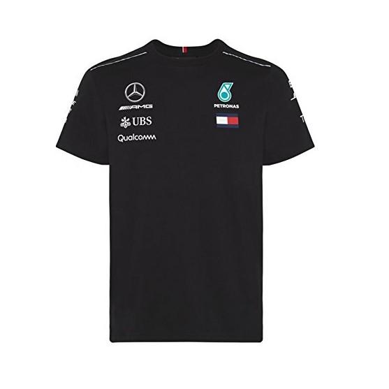 Mercedes AMG Petronas F1 T-Shirt Replica Black 2018