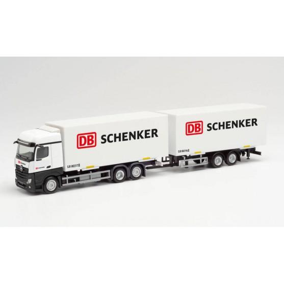 "Mercedes-Benz Actros Bigspace autotreno cassa mobile ""DB Schenker"" 1:87"