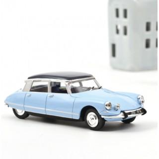Citroën DS 21 Pallas 1965 Bleu Monte Carlo & Toit Bleu Orient 1:43