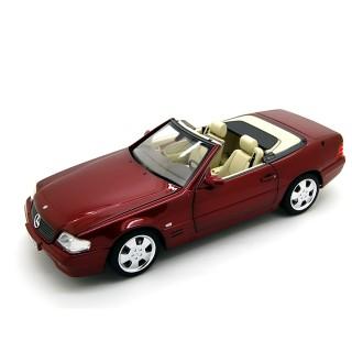 Mercedes-Benz SL 500 R129  Cabrio 1998 Metallic Red (Soft Top + Hard Top) 1:18