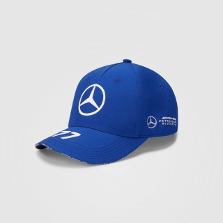 Mercedes-Amg Petronas F1 2021 Cappello Baseball Valtteri Bottas Blu