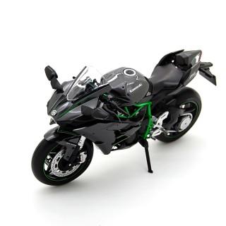 Kawasaki Ninja H2 2015 Black Carbon Green 1:12
