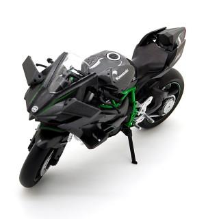 Kawasaki Ninja H2R 2017 Black Carbon Green 1:12