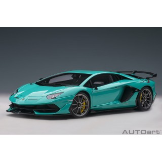 Lamborghini Aventador SVJ 2018 Blu Glauco 1:18