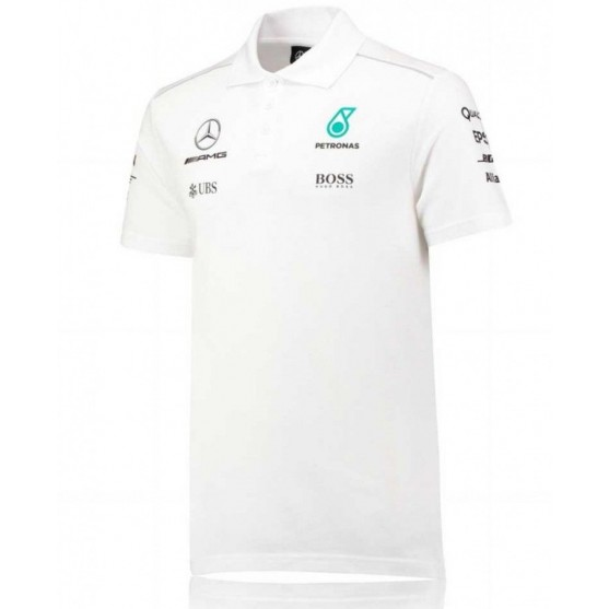 Mercedes AMG Petronas F1 Polo Replica 2017 Bianca
