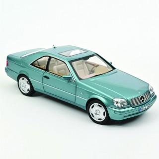 Mercedes-Benz CL600 Coupé 1997 Bleu métallisé 1:18