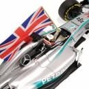 Mercedes Amg Petronas W05 F1 2014 Winner Abu Dhabi Lewis Hamilton + con bandiera 1:18