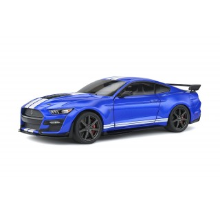 Ford Mustang Shelby GT500 Fast Track 2020  Blu with White stripes 1:18