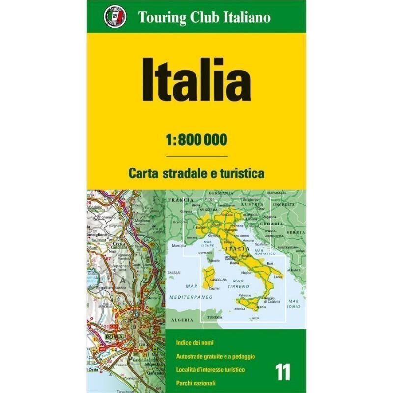 Italia Cartina Autostradale.Tci Cartina Stradale Italia 1 800000