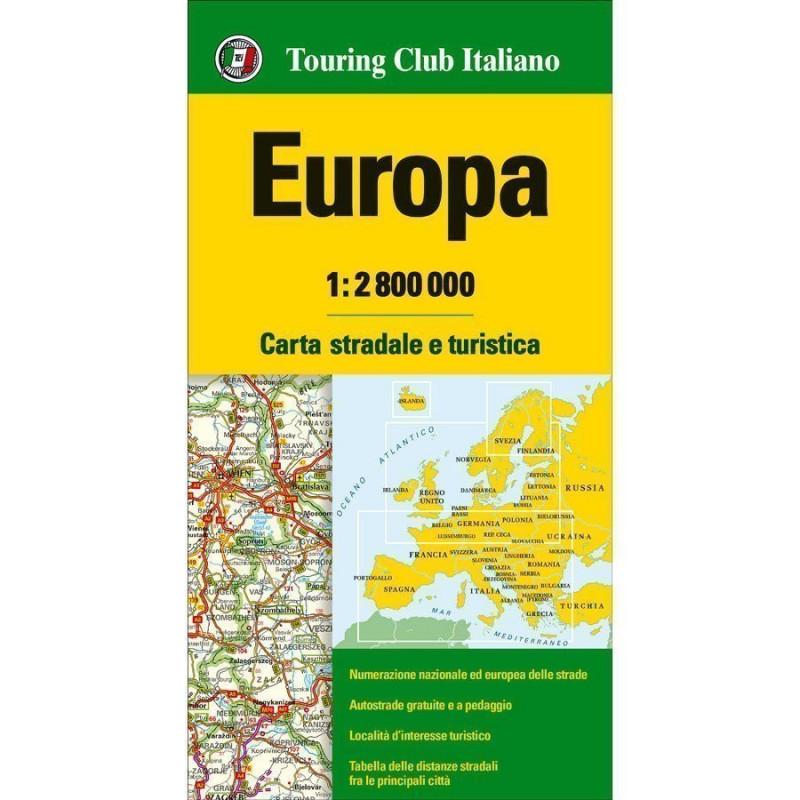 Cartina Autostrade Europa.Tci Cartina Stradale Europa 1 2800000