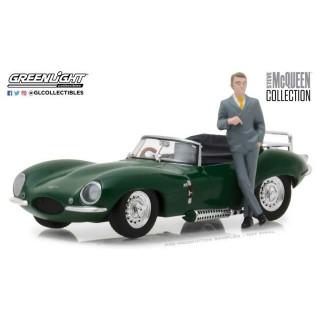 Jaguar XKSS 1957 Green with figure Steve Mcqueen 1:43