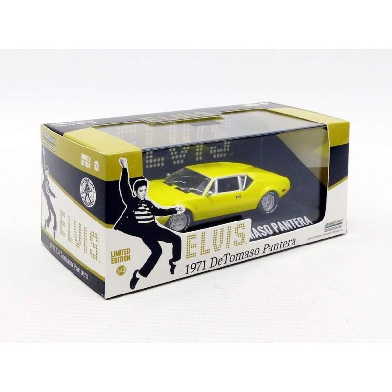 Elvis Presley De Tomaso Pantera 1971 giallo modello di auto 1:43//Greenlight