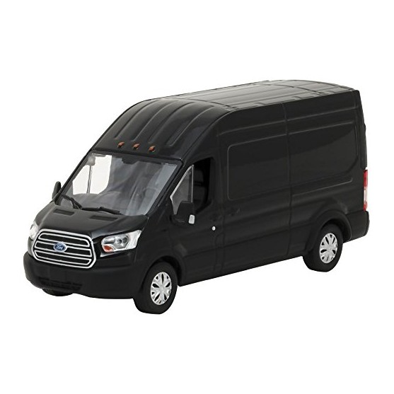 Ford Transit 2017 Extended Van High Roof Black 1:43