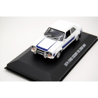 Ford Escort RS 2000 MKI 1974 White with blue stripes 1:43