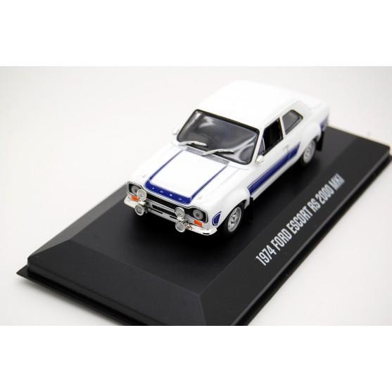 Ford Escort RS 2000 MKI 1974 White with blue stripes 1:43