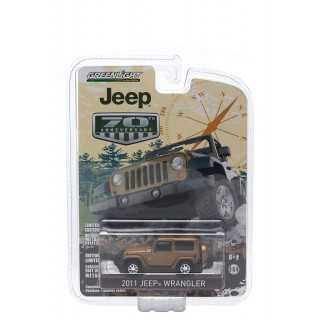 "Jeep Wrangler 2011 Bronze Star Pearl  ""Jeep 70th Anniversary Special Edition "" 1:64"