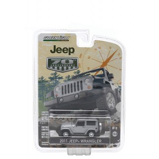 "Jeep Wrangler 2011 Bright Silver Metallic ""Jeep 70th Anniversary Special Edition "" 1:64"