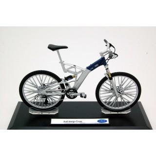 Bicicletta Audi Design Cross argento / blu 1:10