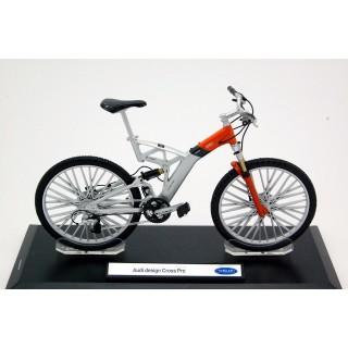 Bicicletta Audi Design Cross Pro argento / arancione 1:10